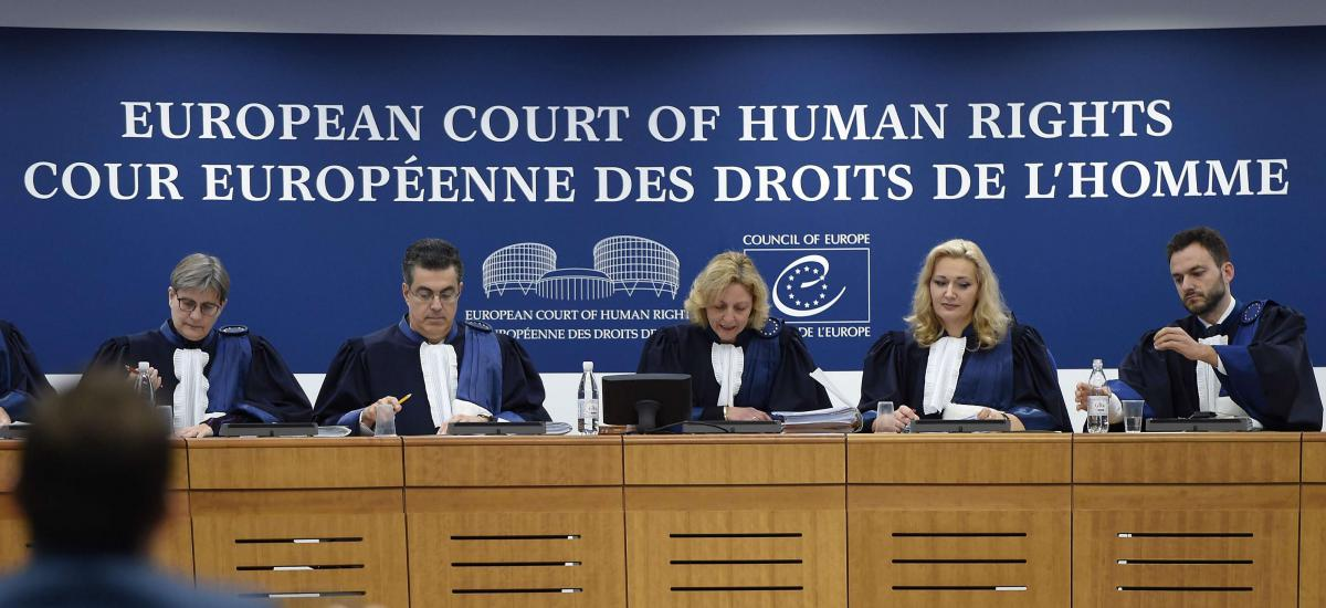 File: Judges of the European Court of Human Rights (ECHR) get ready to take part in a Grand Chamber hearing at the European Court of Human Rights (ECHR) in Strasbourg, eastern France, on Nov. 22, 2017. AFP / FREDERICK FLORIN