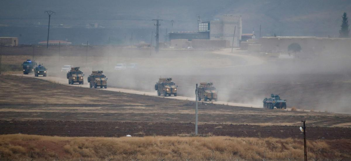 Turkish army vehicles in Syria
