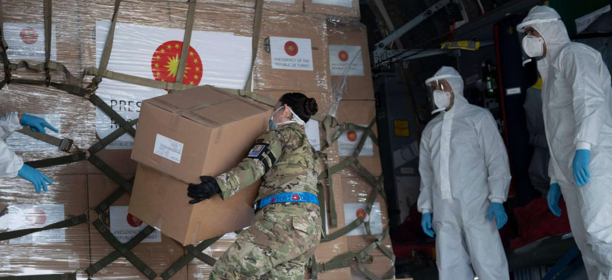 Medical aid donated by Turkey to the United States